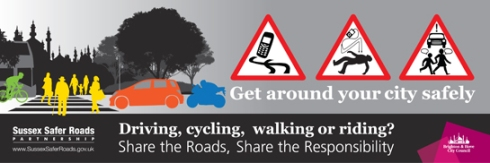 Share The Roads advert
