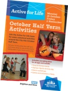 Active for Life Autumn Half Term activities leaflet